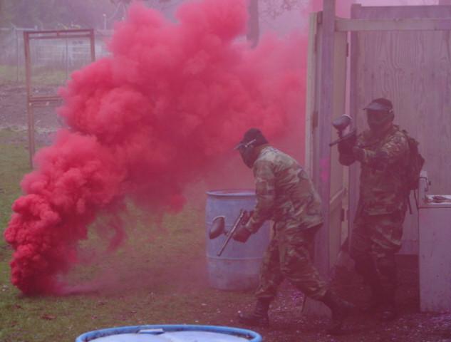 Red smoke down