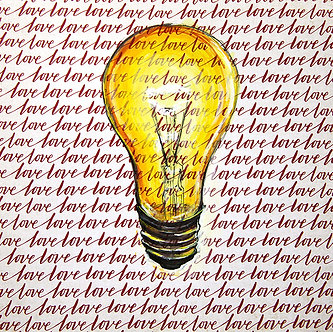 Love Chandelier on paper