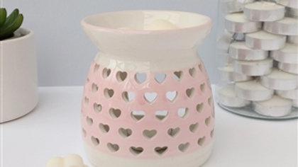 Pink Heart Cutout Wax Melter