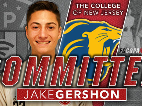 JAKE GERSHON, CLASS OF 2021, COMMITS TO TCNJ!