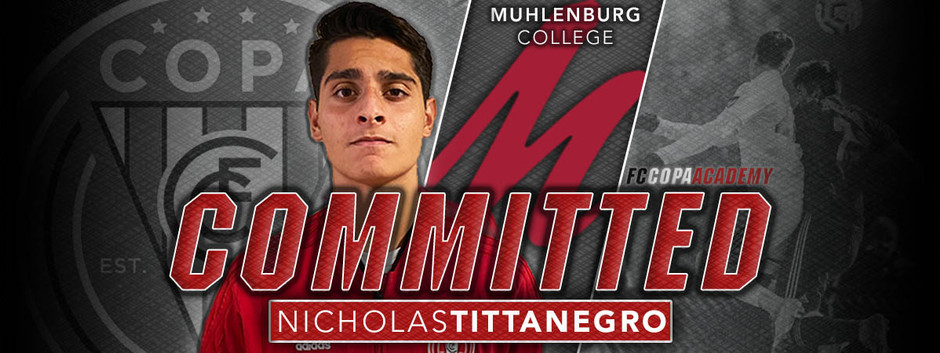 NICHOLAS TITTANEGRO, CLASS OF 2021, COMMITS TO MUHLENBERG COLLEGE!