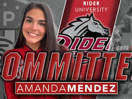 AMANDA MENDEZ, CLASS OF 2021, COMMITS TO RIDER UNIVERSITY!