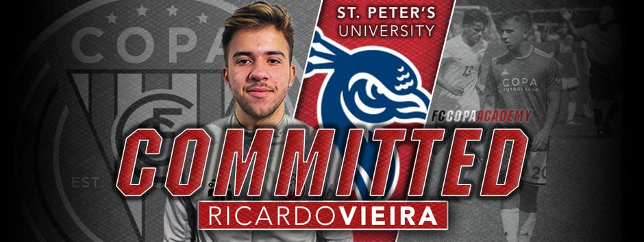 RICARDO VIEIRA, CLASS OF 2021, COMMITS TO SAINT PETER'S UNIVERSITY!