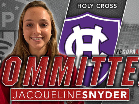 JACQUELINE SNYDER, CLASS OF 2021, COMMITS TO HOLY CROSS!
