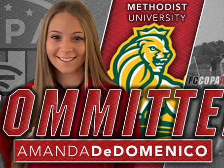 AMANDA DeDOMENICO, CLASS OF 2021, COMMITS TO METHODIST UNIVERSITY!