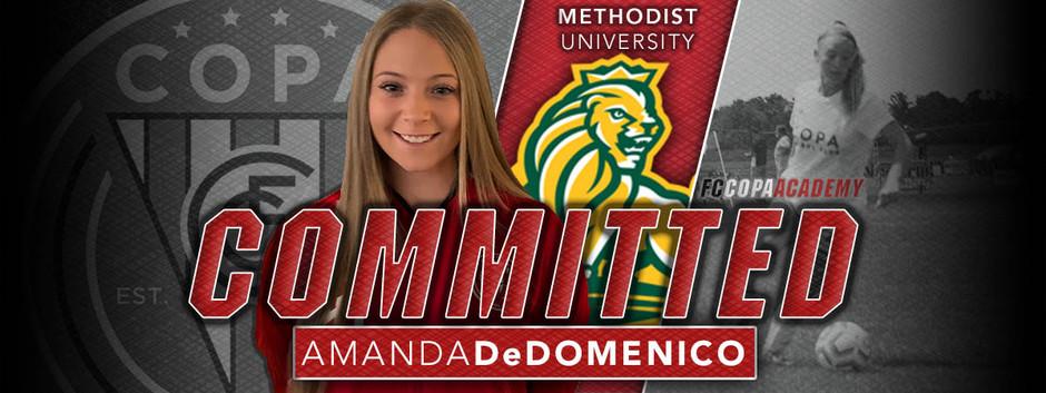 AMANDA DeDOMENICO, CLASS OF 2021, COMMITS TO METHODIST UNIVERSITY!
