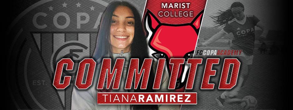 TIANA RAMIREZ, CLASS OF 2022, COMMITS TO MARIST COLLEGE!