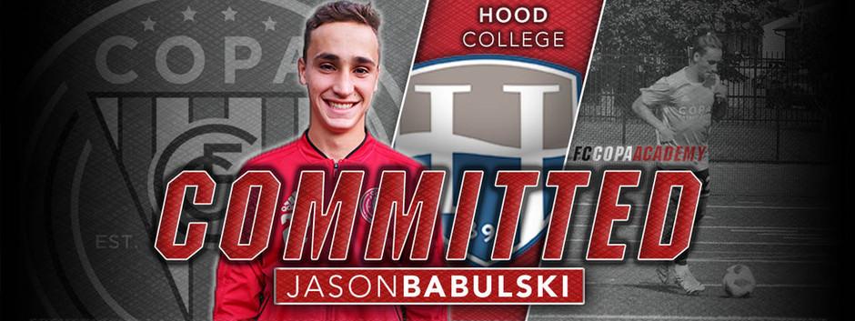 JASON BABULSKI, CLASS OF 2021, COMMITS TO HOOD COLLEGE!