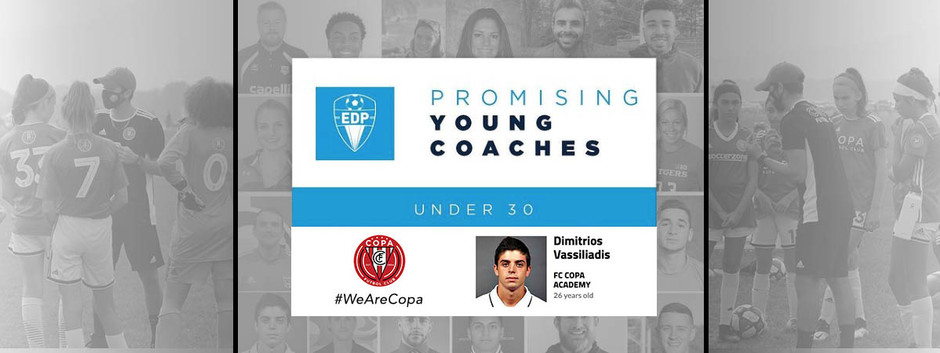 FC Copa Academy Coach Dimitri Vassiliadis Named To EDP's Promising Young Coaches Under 30