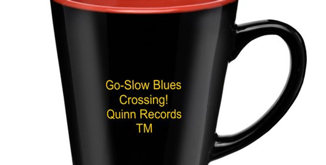 """15-Ounce QRTM Signature Mug & 2CD """"Go Slow-Blues Crossing"""" by Various Artists"""