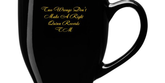15-Ounce  QRTM Signature Mug & CD Two Wrongs Don't Make A Right by OliverJohnson