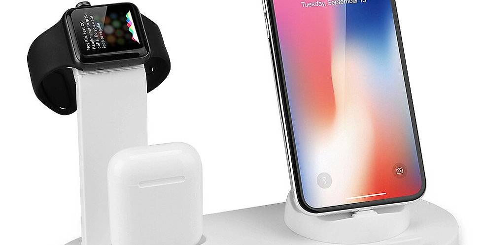 Mobile Phone Charger Stand Watch Charger 3 in 1 for iPhone