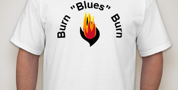 "Burn ""BLUES"" Burn Short-Sleeve T-Shirt"
