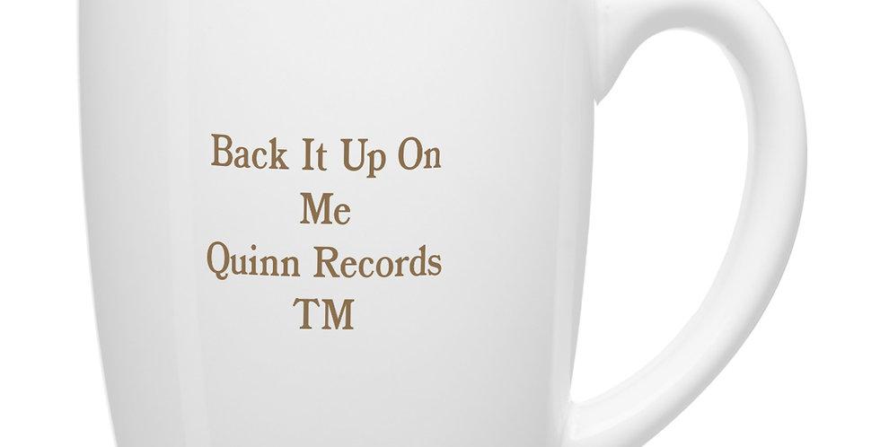 "12-Ounce QRTM SignatureMug & CD,""Back It Up On Me by Gene Poo-Poo Man Anderson."