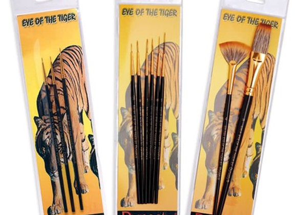 Brush Set (3 Eye of the Tiger w/1 canvas practice swatch)
