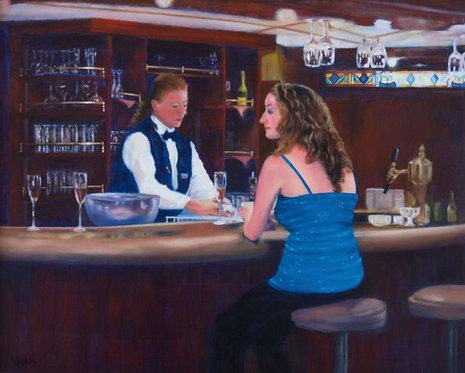 Mystery Girl at the Bar - Vanaja Cotroneo