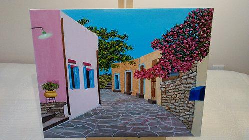 Santorini Street - Celine Almemo