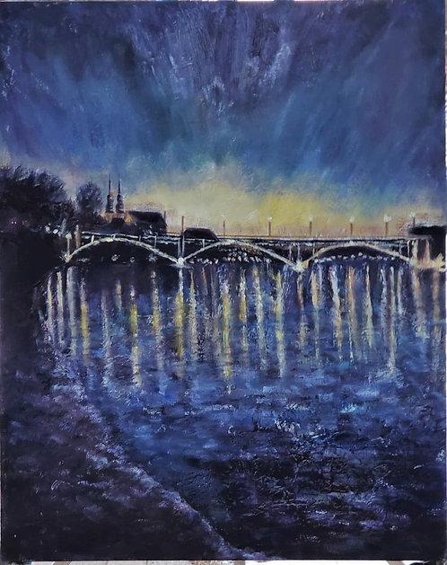 Bridge at Night - Gail Elksnitis