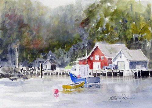 A Nova Scotia Harbour  - William Johns