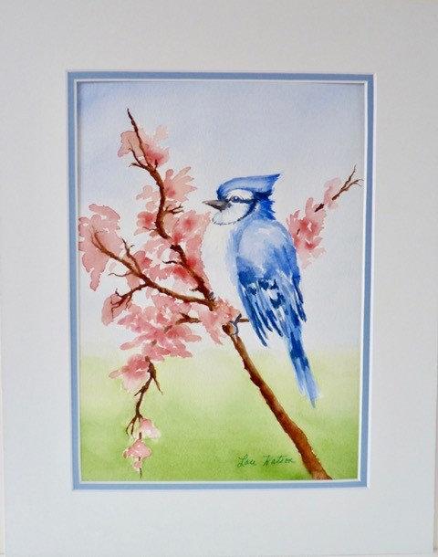 Blue Jay - Abstract - Lou Watson