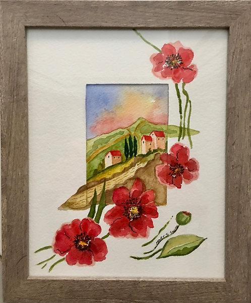 Poppies in Tuscany - Mary Jo Smith