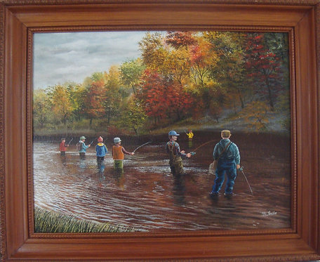 Fishing in the Credit River in Mississauga - Michael Emile