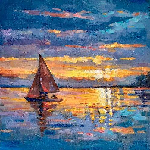 Sunset on the Lake - Tim Wun