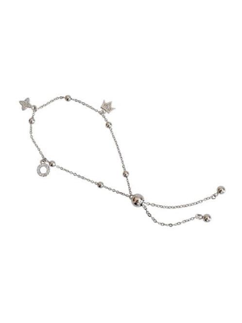 Silver 925 small zircon bracelet