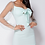 Thumbnail: Mint Tie Up Detail Long Sheer Sleeve Bodycon Mini Dress