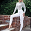 Thumbnail: Pale mint Polka Dot Mesh Square Neck Bodysuit