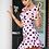 Thumbnail: Pink Polka Dot Puff Sleeve Sweetheart Neck Frill Hem Mini Dress