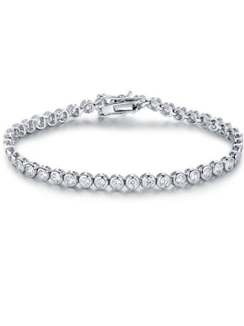 Platinum Silver Plated 325 Zircon Bracelet