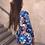 Thumbnail: Blue flower print turtle beck long sleeve mini dress