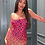 Thumbnail: Red Leopard Print Ruching Detail Bodycon Mini Dress