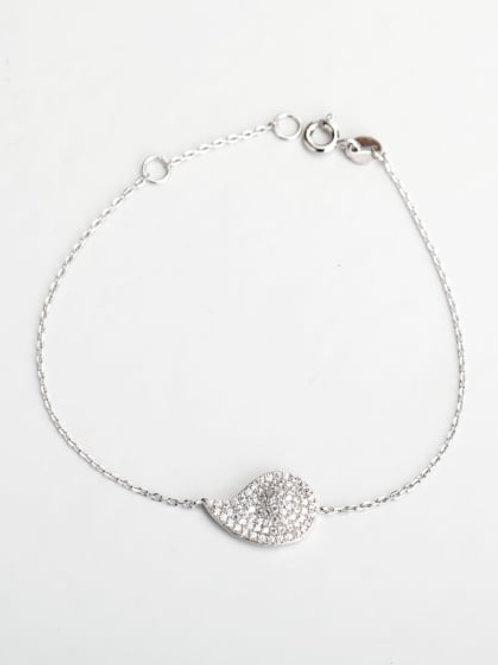 Silver 925 Rhinestone eye bracelet