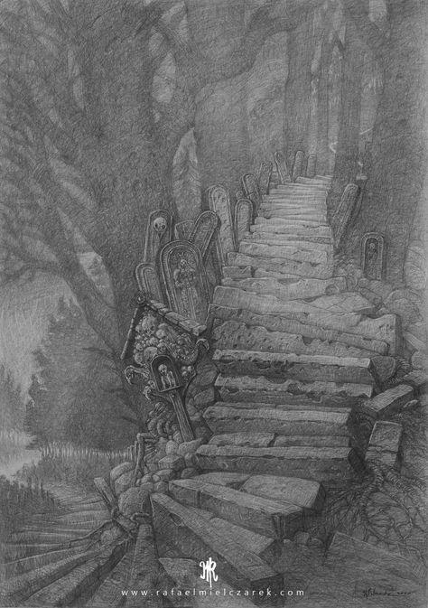 Pacholek Stairs - 100x70cm