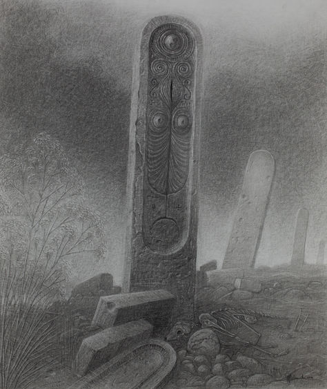 Monoliths -78x65cm