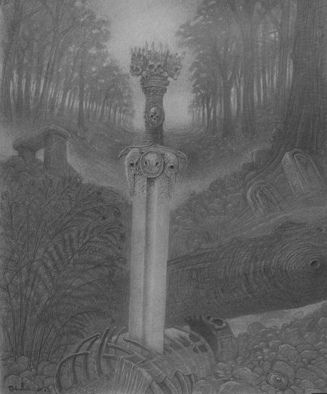 The sword - 50x60cm