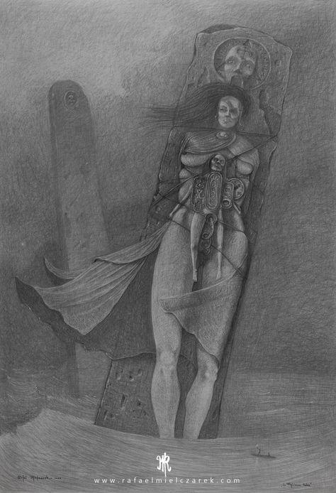 Sorceress Betrayed - 100x70cm