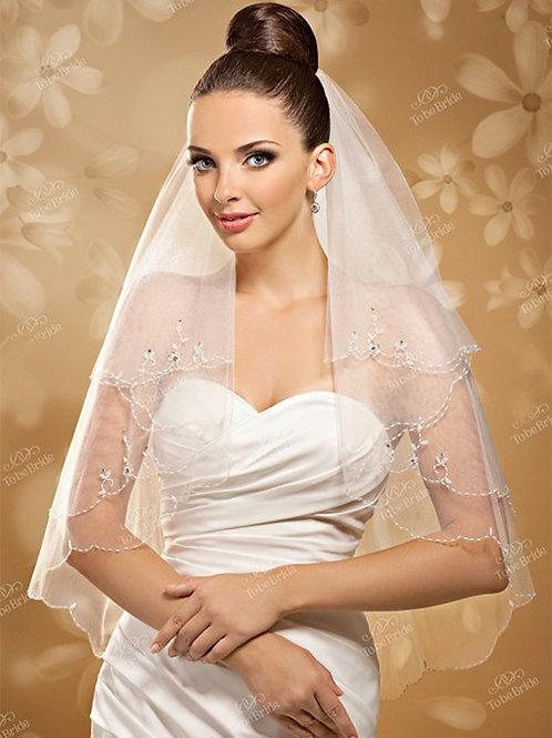 Свадебная фата F010