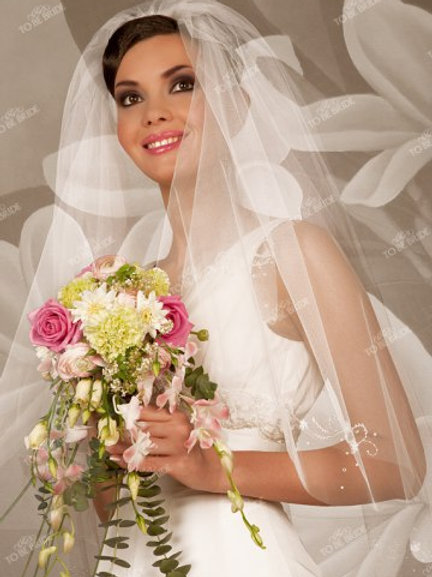 Свадебная фата F018