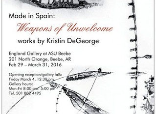 Upcoming exhibition.  Made in Spain: Weapons of Unwelcome