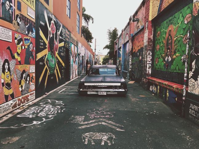 Clarion Alley Street Art Lowrider