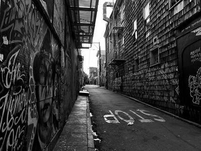 #sanfrancisco #clarionalley #bnw #graffi