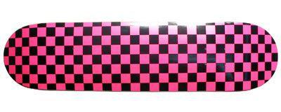 Moose Checkered Pink Skateboard Deck 8.0'