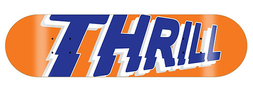 Thrill Skateboard Deck Logo Orange 8.25