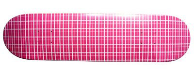 Moose Plaid Pink Skateboard Deck 7.87'