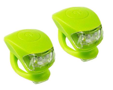 Φανάρια led ποδηλάτου σετ, σιλικόνης, μπαταρίας M-Wave COBRA IV, πράσινο