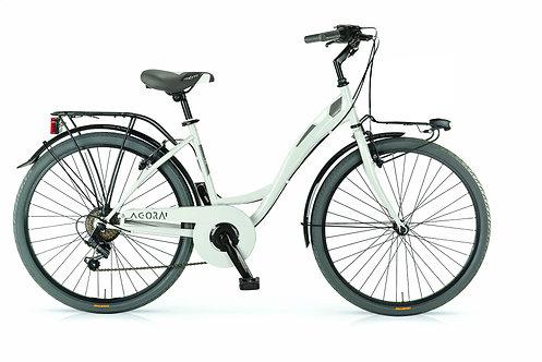 Ποδήλατο MBM Agora 26 Inch 43 cm Women 6SP Rim Brakes Ivory white