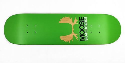 Moose Skateboard Deck Antlers Green 8.12'